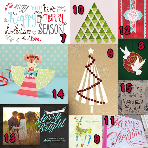 Free printable Christmas cards, templates and tutorials