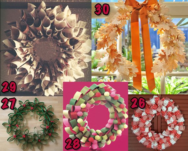 Recycled Upcycled Christmas Craft Kids Decoration Decor. DIY Christmas  Wreath Tutorials