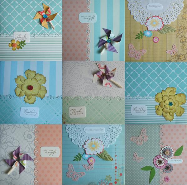 6x6 inch handmade cards