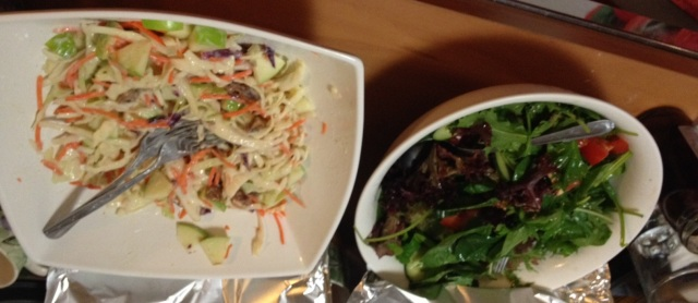 Two types o upside down salads