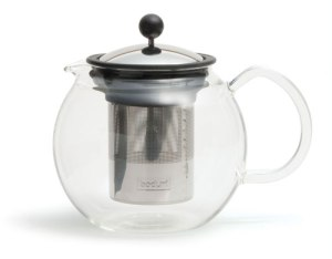 A fine example of a bodum teapot, except mine had a dark green plastic base and handle.