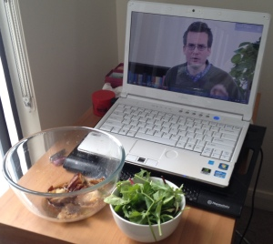 For maximum enjoyment and learning, meals should be eaten while watching Crash Course with John Green.