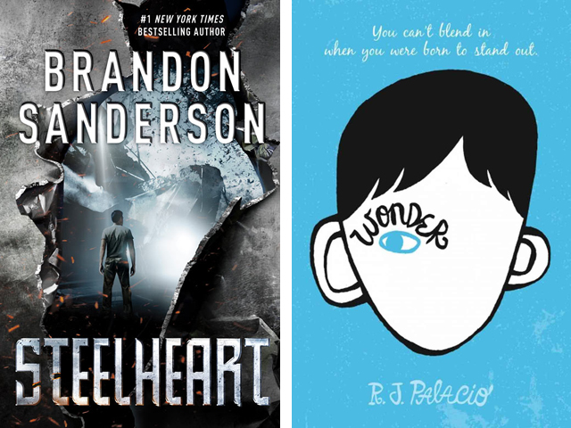 Left: Steelheart by Brandon Sanderson Right: Wonder by R.J. Palacio