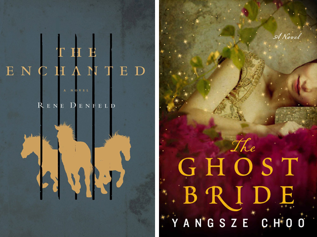Left: The Enchanted by Rene Denfeld, Right: The Ghost Bride by Yangsze Choo