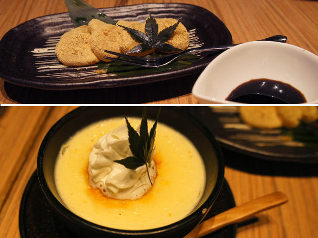 7) Warabi-Mochi with Brown Sugar Syrup: $7.80 8) Home-made Rich Soy Milk Pudding: $4.80