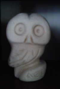 An owl from the Greek islands