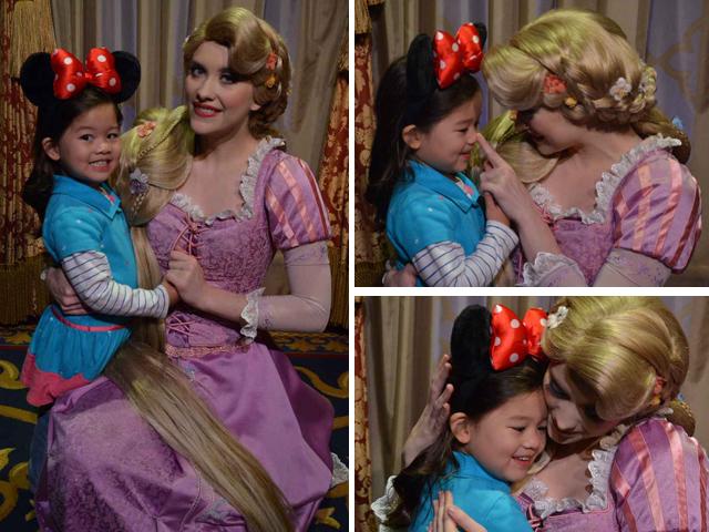 Little E with Rapunzel