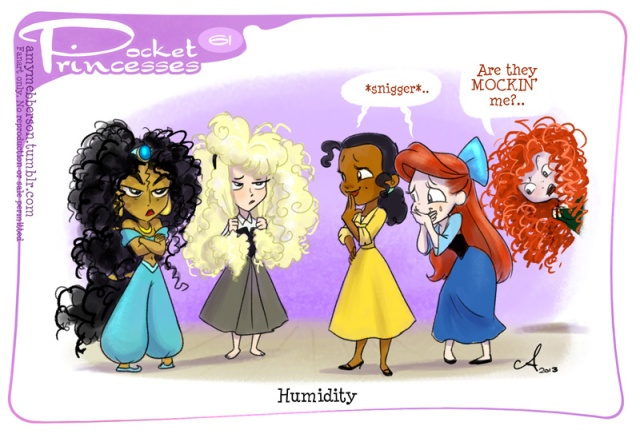 Even Princesses can't fight the frizz Image Credit: Amy Mebberson