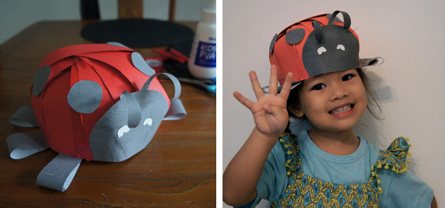 Crazy Hat Day: Paper Ladybird Bug Hat