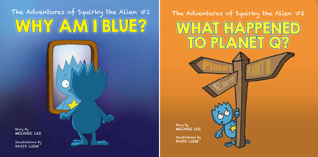 The Adventures of Squirky The Alien #1 and #2 by Melanie Lee