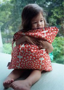 Little E loves her wet bag