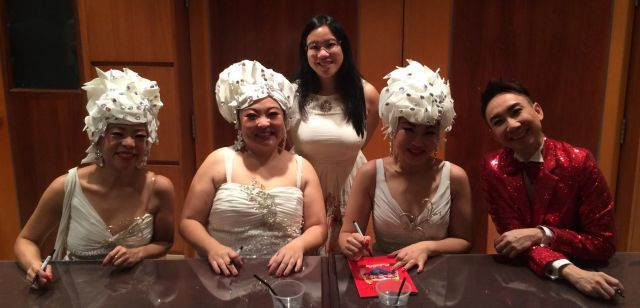Chilling Out with the Dim Sum Dollies after the show