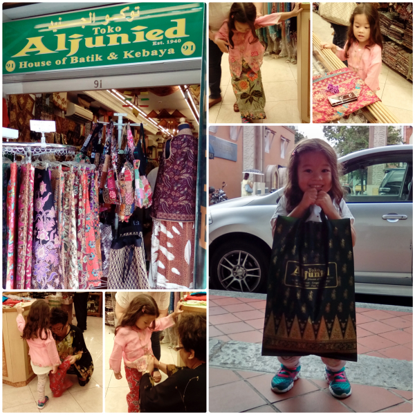 Shopping for a mini-Kebaya at Toko Aljunied (91 Arab Street)