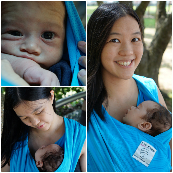 Babywearing Made Easy Baby K Tan Active A Baby Sling