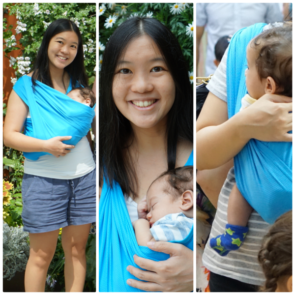 Babywearing Made Easy Baby K Tan Active A Baby Sling Review