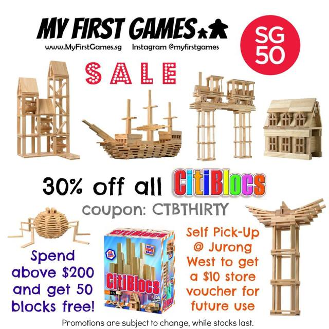 CitiBlocs sale at My First Games
