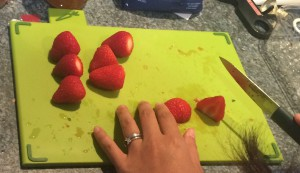 Cuttin' up the Strawberries