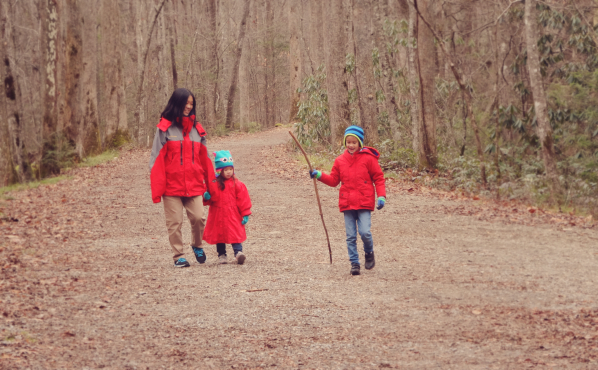 Winter walking on the Elkmont trail