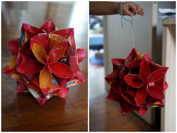 DIY 3D PAPER STAR CHRISTMAS DECORATIONS. — Gathering Beauty | 450x600