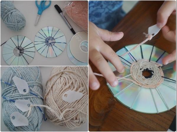 upcycle-recycle-art-craft-cd-yarn