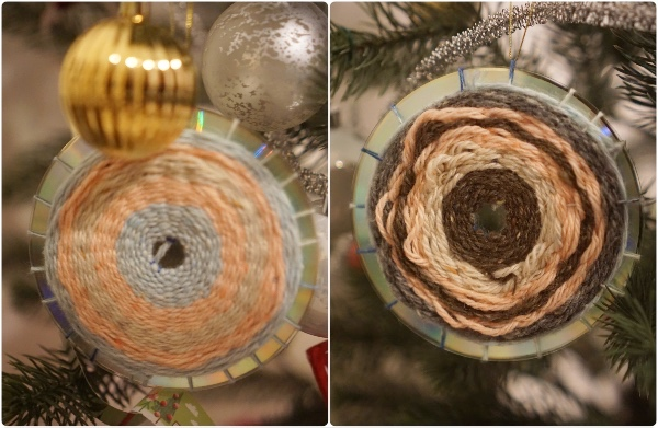 weaving-yarn-cd-upcycle-christmas-craft-ornament